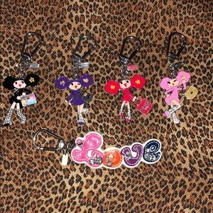 Authentic Coach Chan Girl Keychains